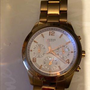 Gold tone Guess watch for women